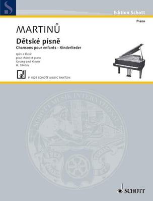 Detske Pisne H 184b MARTINU Partition Mélodies - laflutedepan