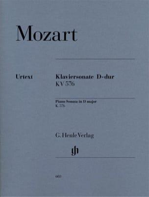 Sonate pour piano en Ré majeur K. 576 MOZART Partition laflutedepan