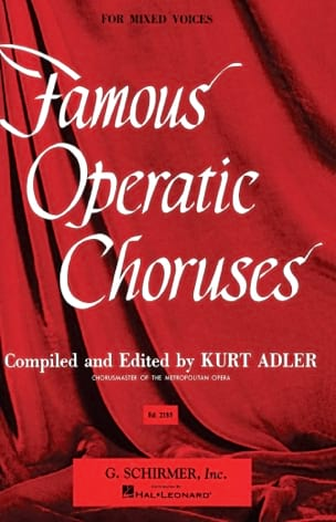 Famous Operatic Choruses Partition Chœur - laflutedepan