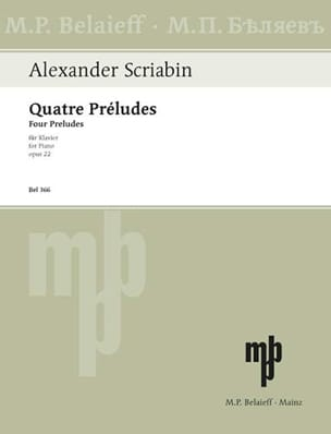 4 Préludes Opus 22 SCRIABINE Partition Piano - laflutedepan
