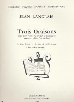 3 Oraisons Op. 174 Jean Langlais Partition laflutedepan