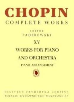 Oeuvres Pour Piano Et Orchestre CHOPIN Partition Piano - laflutedepan