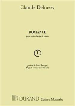 Romance DEBUSSY Partition Mélodies - laflutedepan