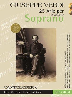 25 arie pour soprano + 2 CD VERDI Partition Opéras - laflutedepan