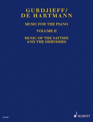 Music For Piano. Volume 2 GURDJIEFF / HARTMANN Partition laflutedepan