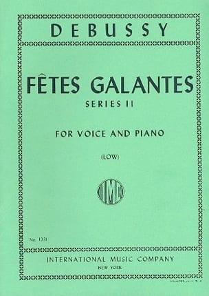 Fêtes Galantes Série 2. Voix Grave DEBUSSY Partition laflutedepan