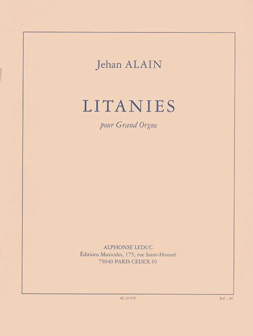 Litanies - Jehan Alain - Partition - Orgue - laflutedepan.com