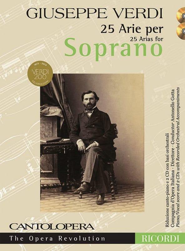 25 arie pour soprano + 2 CD - VERDI - Partition - laflutedepan.com