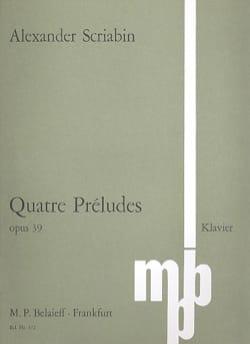 4 Préludes Op. 39 SCRIABINE Partition Piano - laflutedepan