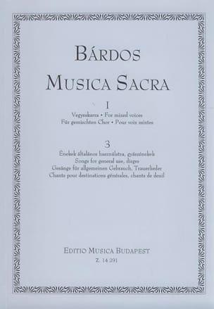 Musica Sacra 1 Volume 3 Lajos Bardos Partition Chœur - laflutedepan