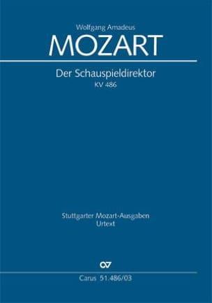 Der Schauspieldirektor K 486 MOZART Partition Opéras - laflutedepan