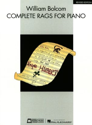Complete Rags William Bolcom Partition Piano - laflutedepan
