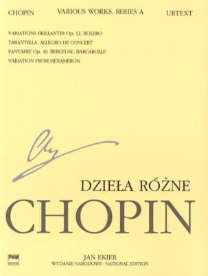 Pièces variées Série A CHOPIN Partition Piano - laflutedepan