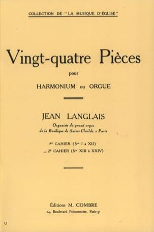 24 Pièces Opus 6. 2ème cahier Jean Langlais Partition laflutedepan
