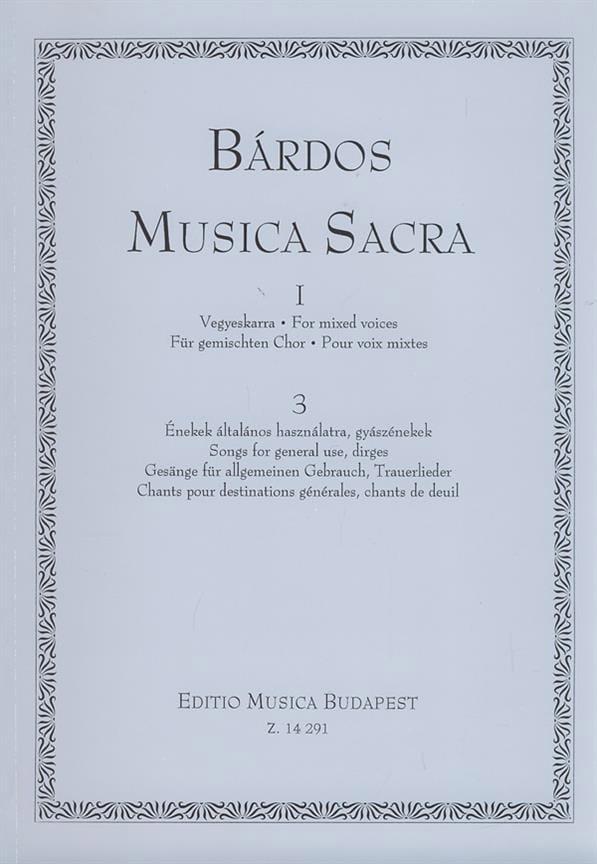 Musica Sacra 1 Volume 3 - Lajos Bardos - Partition - laflutedepan.com