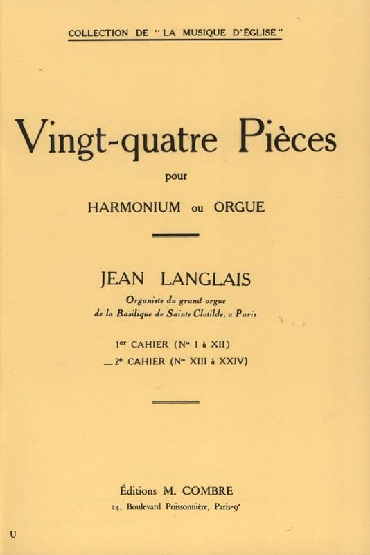 24 Pièces Opus 6. 2ème cahier - Jean Langlais - laflutedepan.com