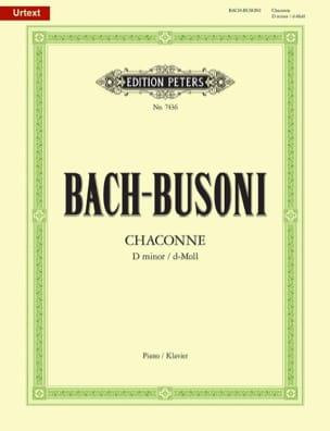 Chaconne BWV 1004 Bach Jean-Sébastien / Busoni Ferruccio laflutedepan