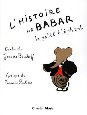 L' Histoire de Babar POULENC Partition Piano - laflutedepan