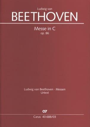 BEETHOVEN - Mass In Ut Opus 86 - Partition - di-arezzo.com