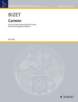 Carmen. Mezzo BIZET Partition Opéras - laflutedepan
