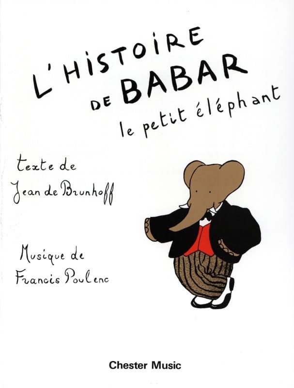 L' Histoire de Babar - POULENC - Partition - Piano - laflutedepan.com