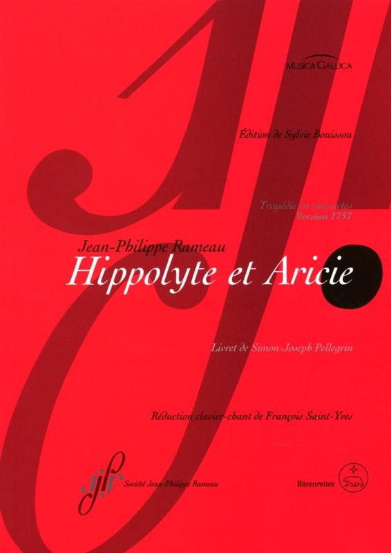Hippolyte et Aricie - RAMEAU - Partition - Opéras - laflutedepan.com