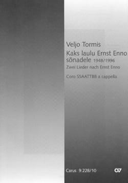 Kaks laulu Ernst Enno sonadele Veljo Tormis Partition laflutedepan