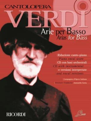 Arie Per Basso VERDI Partition Recueils - laflutedepan