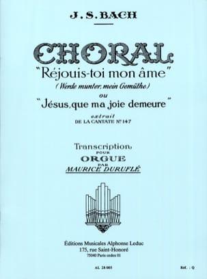 Choral Réjouis-Toi mon Ame BACH / DURUFLE Partition laflutedepan