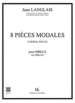 8 Pièces Modales Opus 90 Jean Langlais Partition Orgue - laflutedepan
