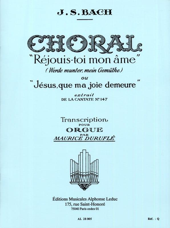 Choral Réjouis-Toi mon Ame - BACH / DURUFLE - laflutedepan.com