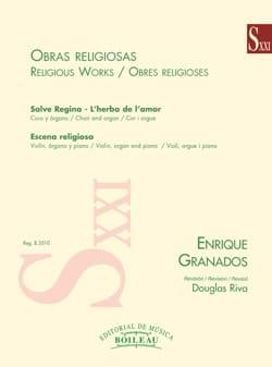 Oeuvres religieuses GRANADOS Partition Chœur - laflutedepan