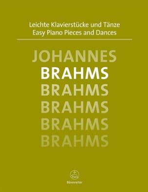 Easy Piano Pieces and Dances BRAHMS Partition Piano - laflutedepan