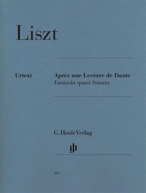 Après une Lecture de Dante - LISZT - Partition - laflutedepan.com