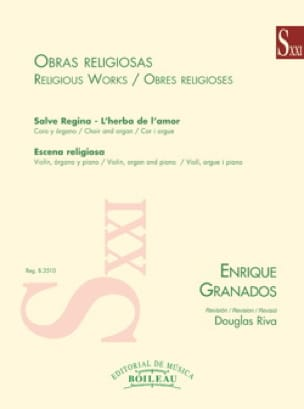 Oeuvres religieuses - GRANADOS - Partition - Chœur - laflutedepan.com