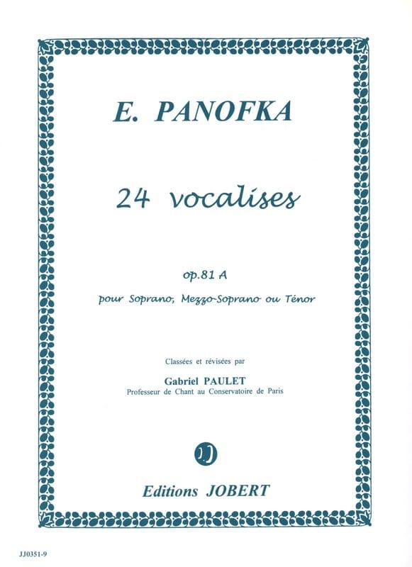 24 Vocalises Progressives, Opus 81a Volume 1 - laflutedepan.com