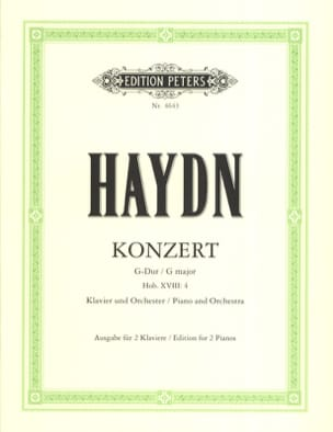 Concerto En Sol Majeur Hob 18-4 HAYDN Partition Piano - laflutedepan