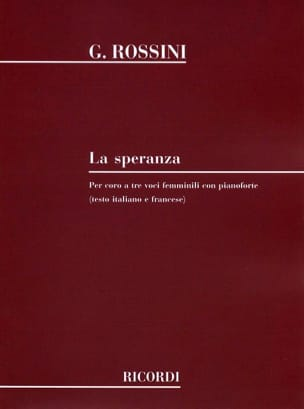 Gioachino Rossini - The Speranza - Partition - di-arezzo.com