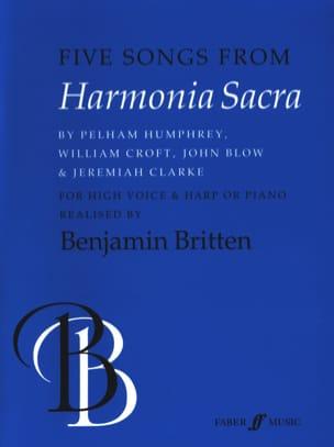 5 Songs From Harmonia Sacra Partition Harpe - laflutedepan