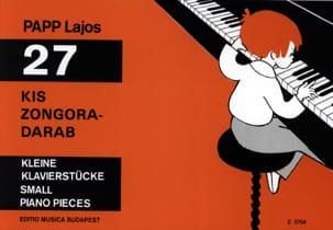 27 Kis Zongora-Darab Lajos Papp Partition Piano - laflutedepan