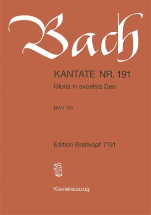 BACH - Cantate 191 Gloria In Excelsis Deo - Partition - di-arezzo.co.uk