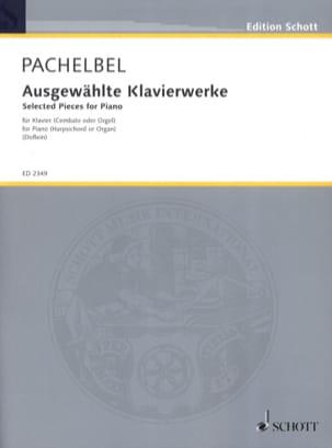 Ausgewählte Klavierwerke PACHELBEL Partition Clavecin - laflutedepan