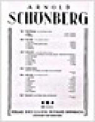 Dank Op. 1-1 - SCHOENBERG - Partition - Mélodies - laflutedepan.com