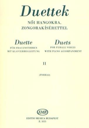 Duos Pour Voix De Femmes Volume 2 Partition Duos - laflutedepan