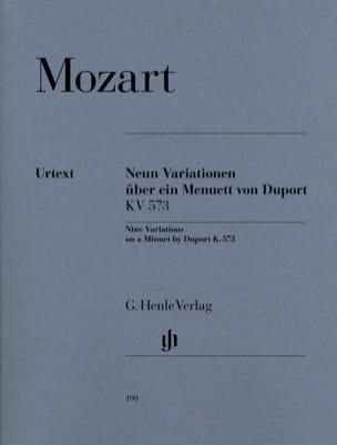 9 Variations sur un Menuet de Duport K 573 MOZART laflutedepan