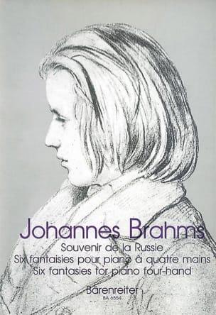 BRAHMS - Souvenir of Russia. 4 Hands - Partition - di-arezzo.co.uk