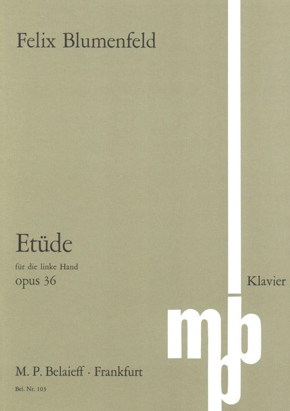 Etude Opus 36 Main Gauche - Félix Blumenfeld - laflutedepan.com