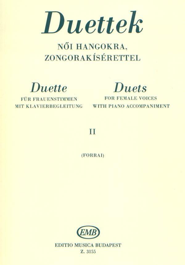 Duos Pour Voix De Femmes Volume 2 - Partition - laflutedepan.com