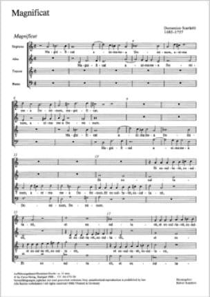 Magnificat - SCARLATTI - Partition - Chœur - laflutedepan.com