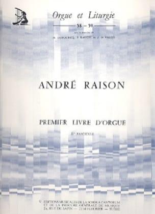 1er Livre d'Orgue Volume 2 - André Raison - laflutedepan.com